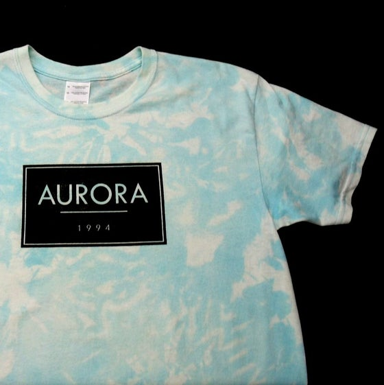 Image of Sky blue Aurora box logo t-shirt