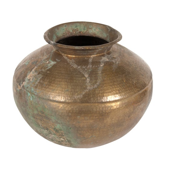 Image of Vintage Copper Water Jug from India 2