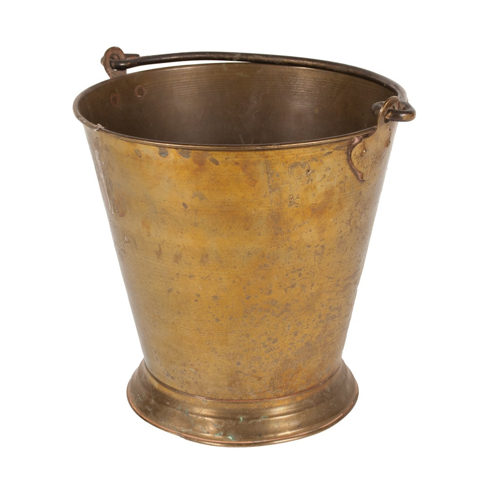 Image of Vintage Copper Pail from India