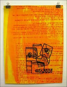 "Image of MJL "" Background n Gibberish OG Napkin Face"" Art Print"