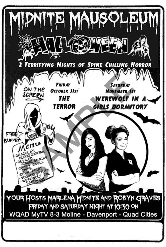 Image of Midnite Mausoleum Retro Style poster #2 (HALLOWEEN 2014)