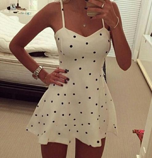 Image of DOTS STRAPE sexy dress