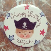 Image of Personalised Pirate Badge-Boy & Girl's