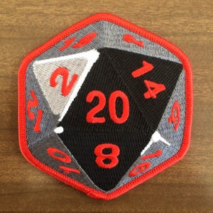 Image of D20 Embroidered Patch