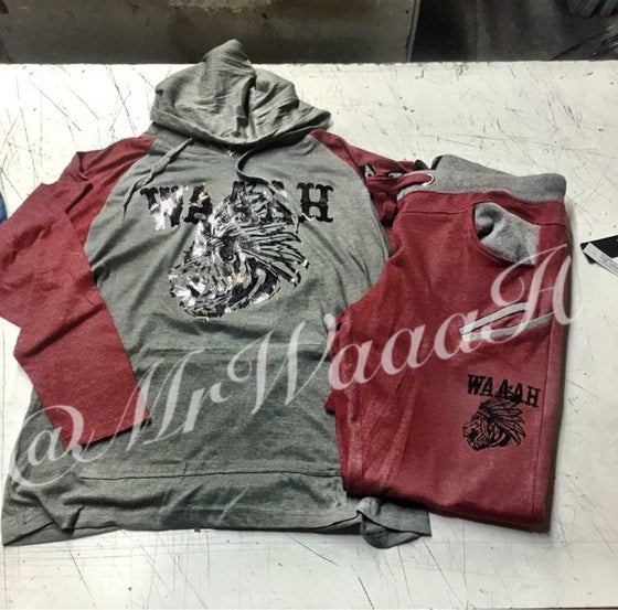 Image of Native Lion Sweatsuit (Burgandy)