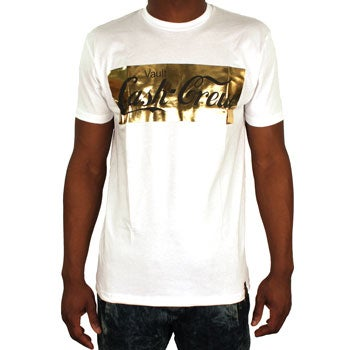 Image of Cash Crew Tee (White/Gold/Black)