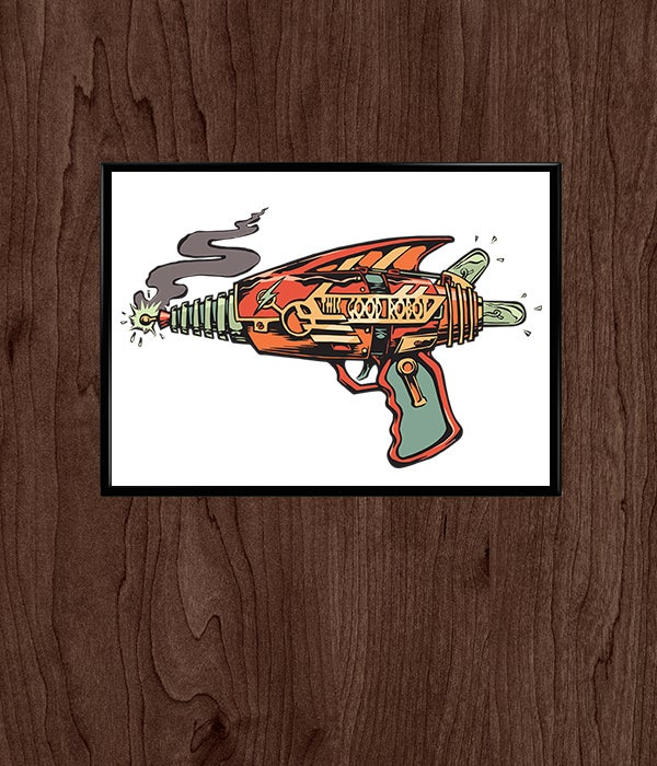 Image of Limited Edition Hand-Numbered Laser Gun Print