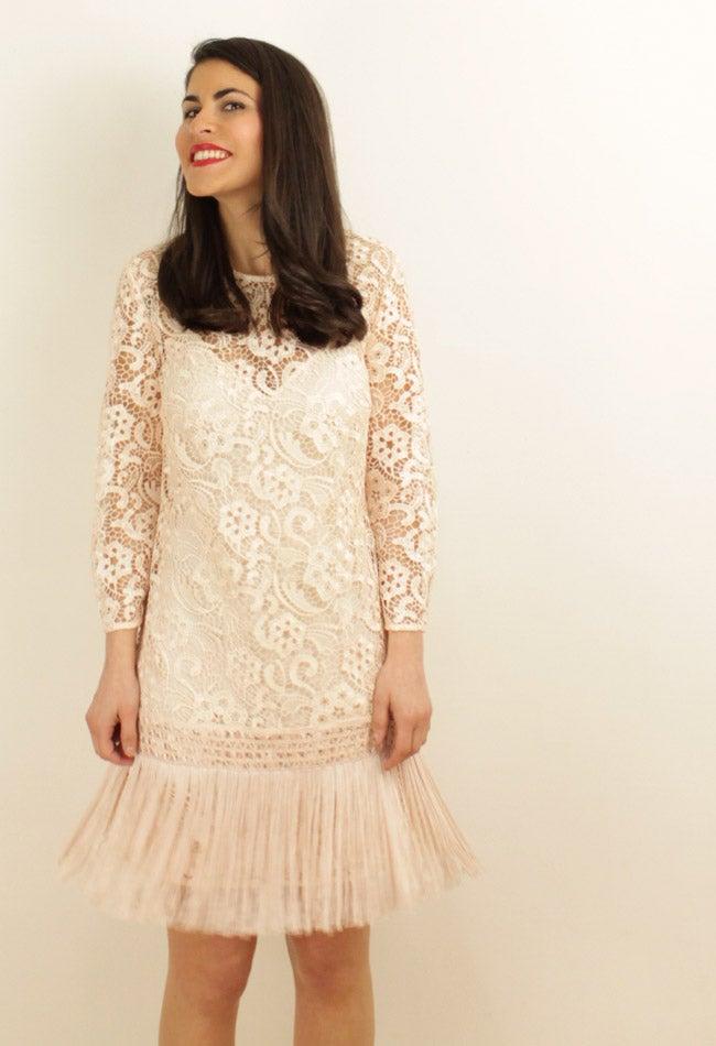 Image of FRINGED LACE DRESS