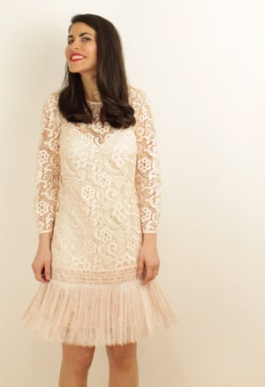 Image of FRINGED LACE DRESS
