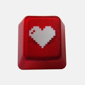 Image of Translucent Red 8-bit Heart Keycap