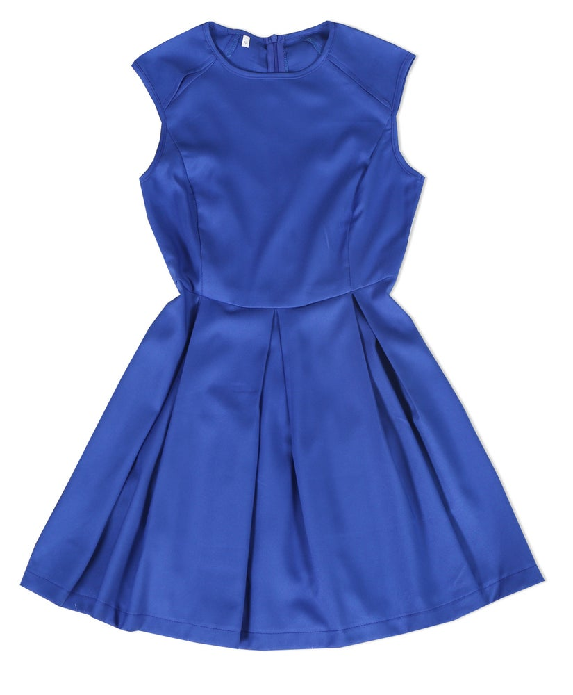Image of Cute hot blue vest dress