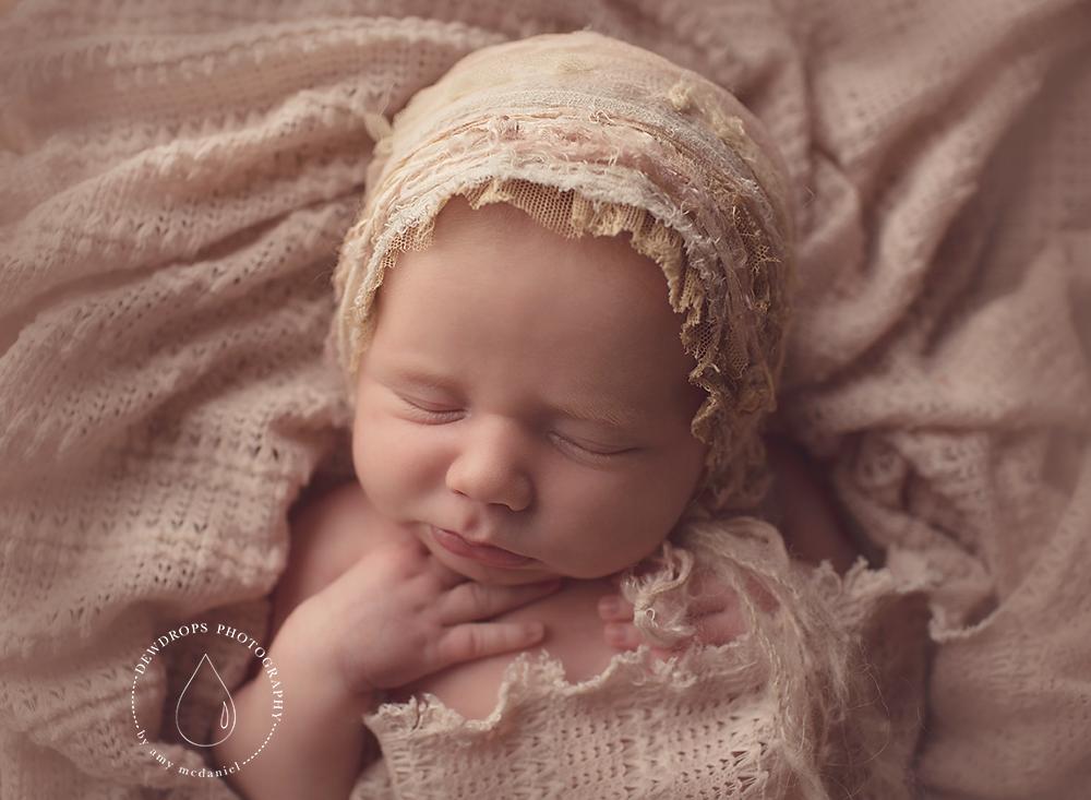 Image of ~ Crepelle lace bonnet  ~