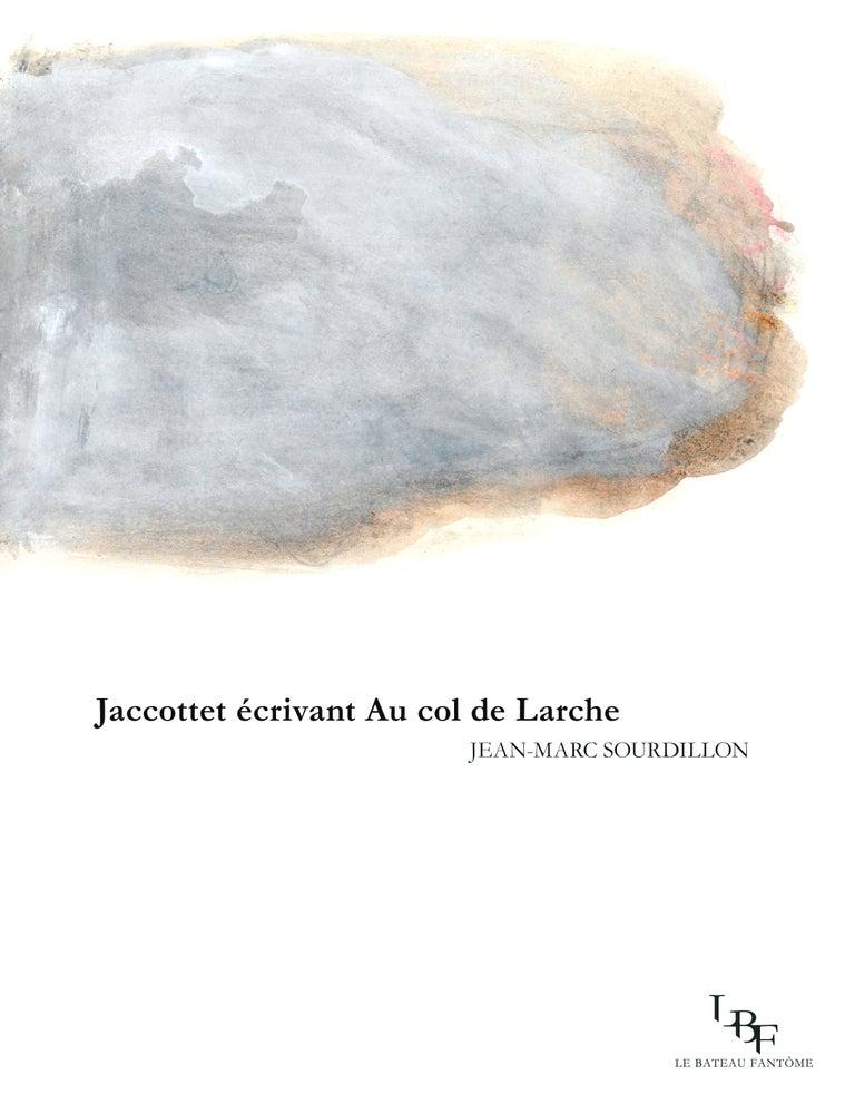 """Image of """"Jaccottet écrivant Au col de Larche"""", par Jean Marc Sourdillon"""