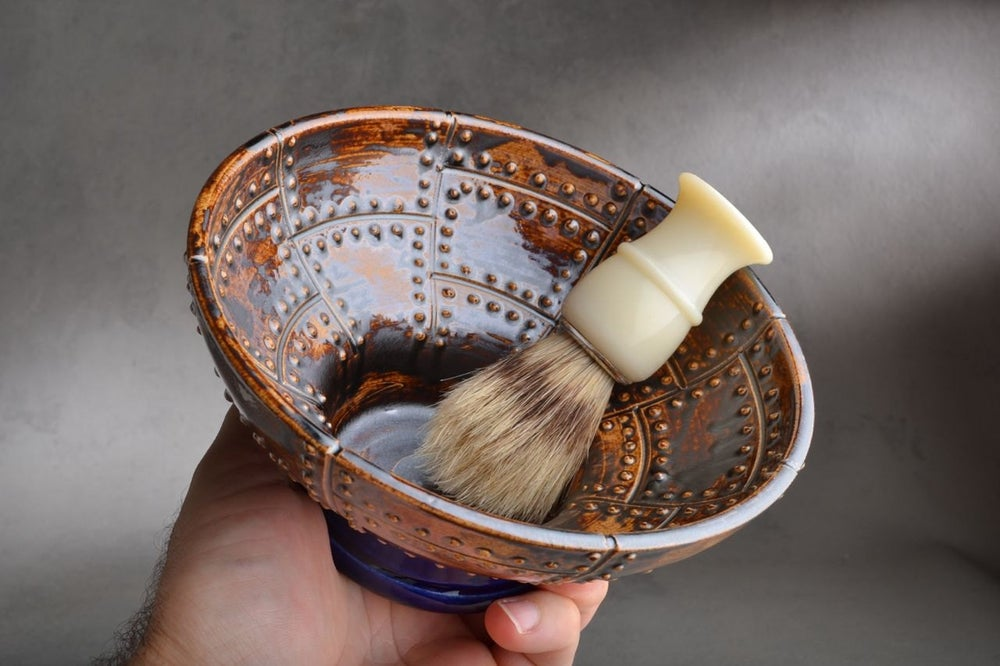 Shaving Bowl Made To Order Rust Brown Sheet Metal Shaving