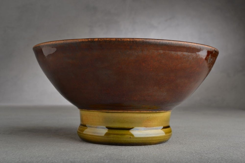 Image of Shaving Bowl Made To Order Leather Brown Dottie Shaving Bowl by Symmetrical Pottery