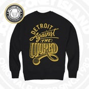 Image of Detroit against the world - Black crew neck gold print
