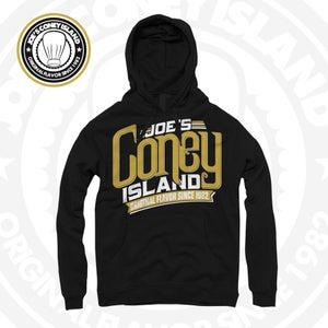 "Image of JCI ""On Fleek"" - Black Hoodie - Gold/White Print"
