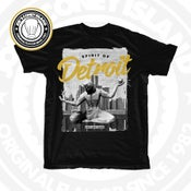Image of Spirit of Detroit - Black tshirt White/Black/Gold print