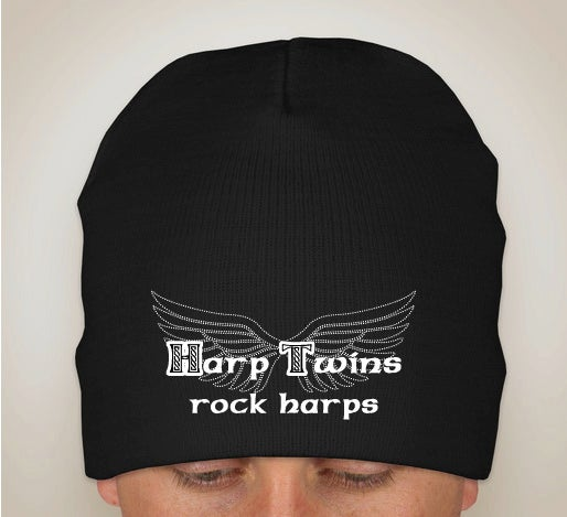 Image of Harp Twins rock harps KNIT BEANIE