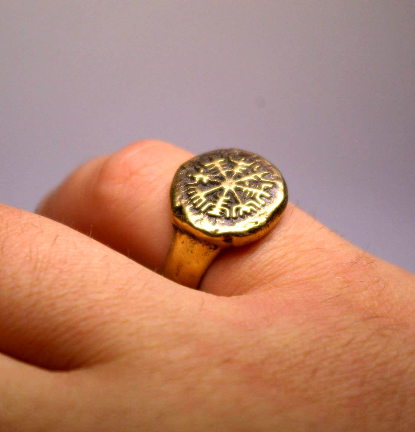 c h studio vegvisir ring viking compass viking ring