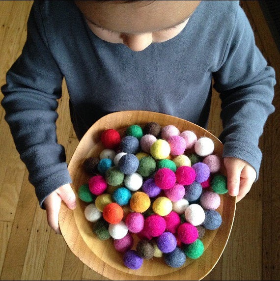Image of 100 Felted Balls - Assorted Colors