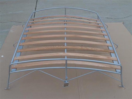 Image of VINTAGE SILVER POWDER COAT VW BUG ROOF RACK