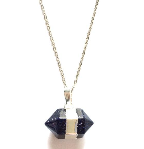 Image of Kool Jewels Black Precious Stone Pendant
