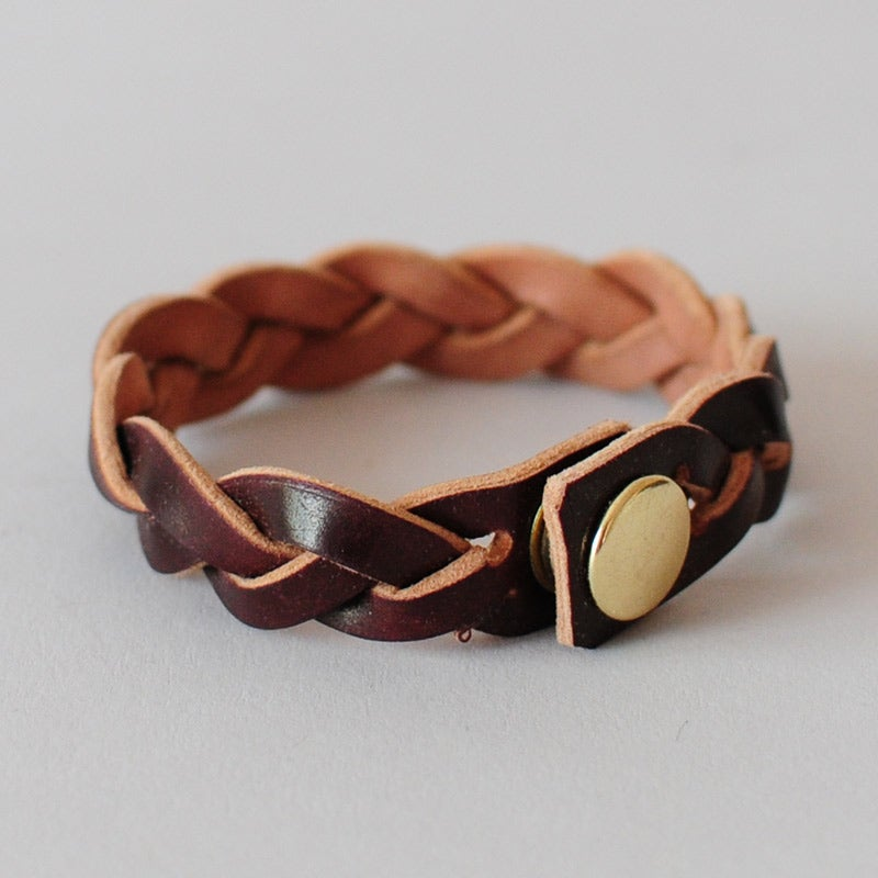 Image of Leather Braided Bracelet - Horween® Shell Cordovan No.8