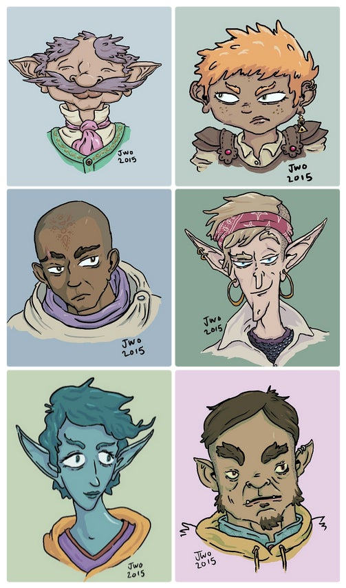 Image of Custom RPG Character Portrait Busts