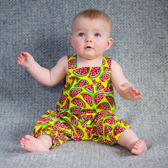 Image of Watermelon summer playsuit