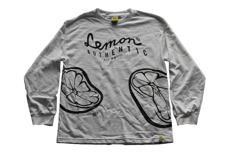 Image of Lemon® Warped Long Sleeve Tee (White)