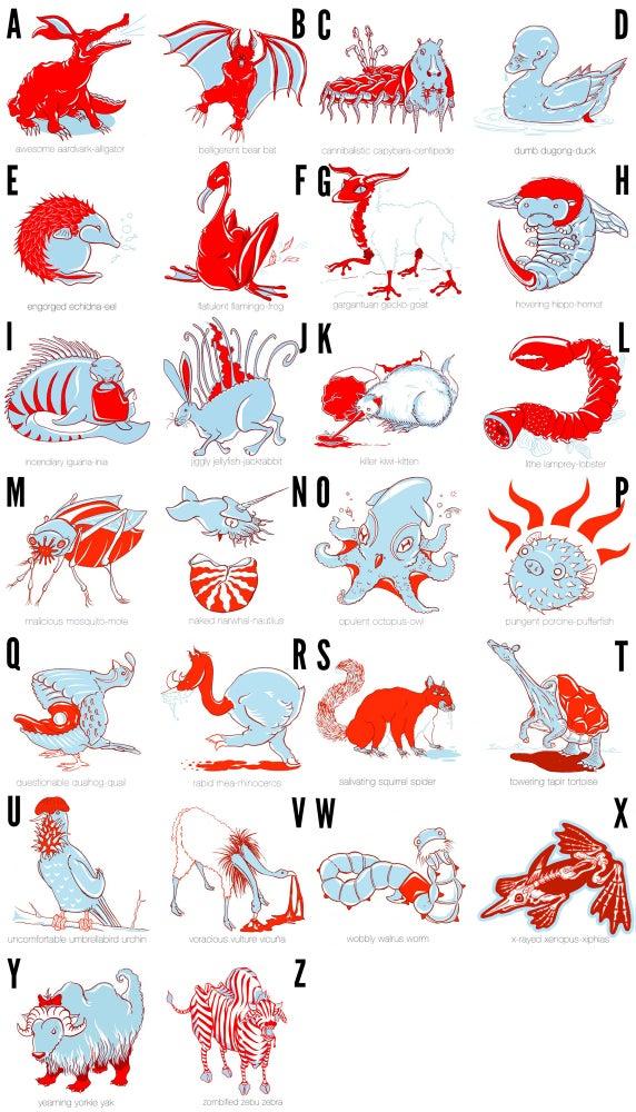 Image of Animal Alliteration Alphabet