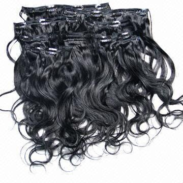 Image of Virgin hair clip ins 7 pieces