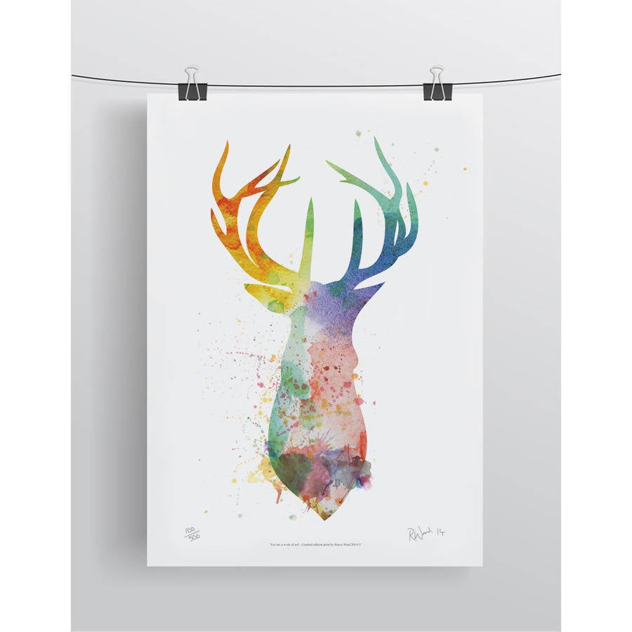 Image of Stags Head Splash Limited Edition Signed Print