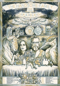 Image of The Handsome Family UK/Ireland Tour Poster 2015