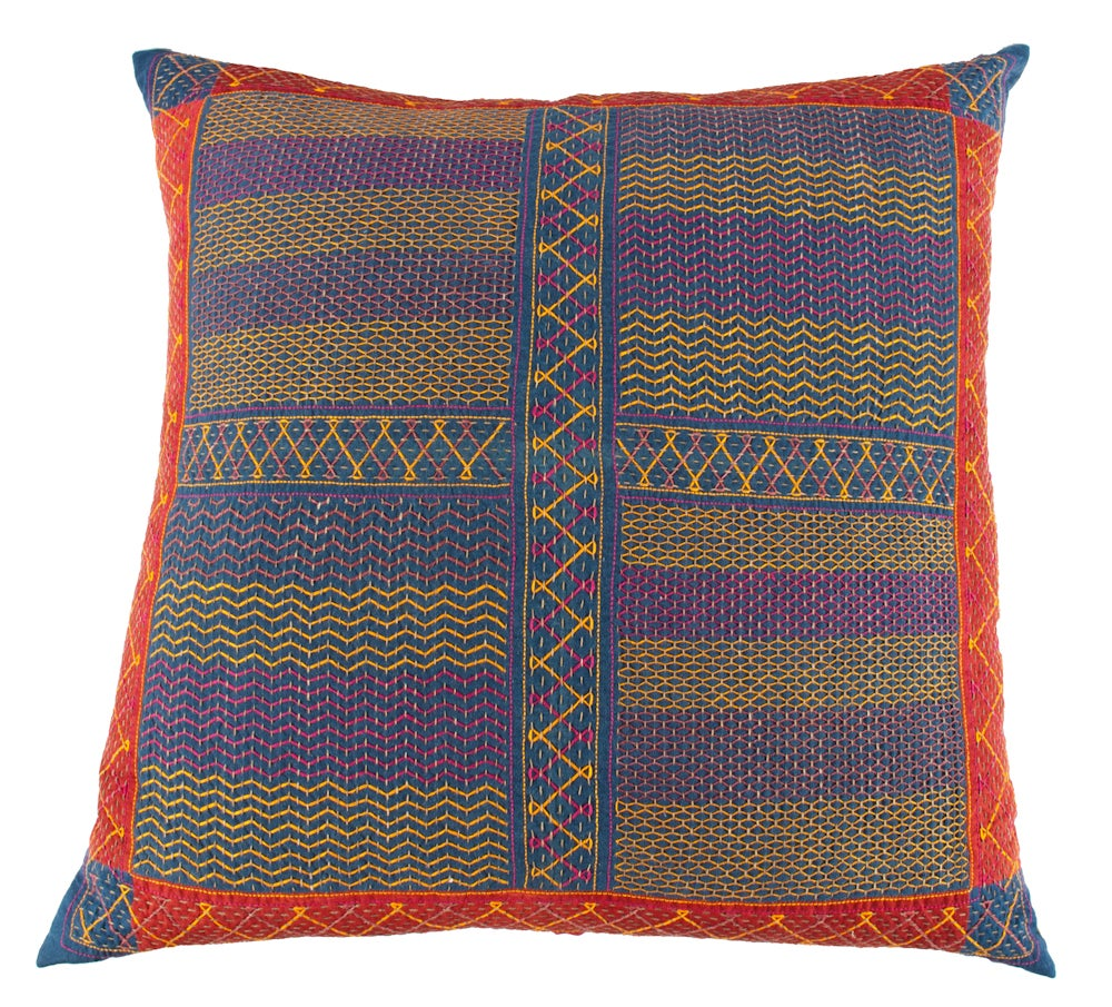 Image of Vintage Indian Pillow with Custom Casablanca Back