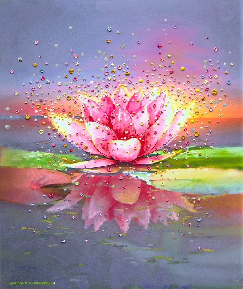 Image of Pink Lotus Energy Painting - Giclee Print
