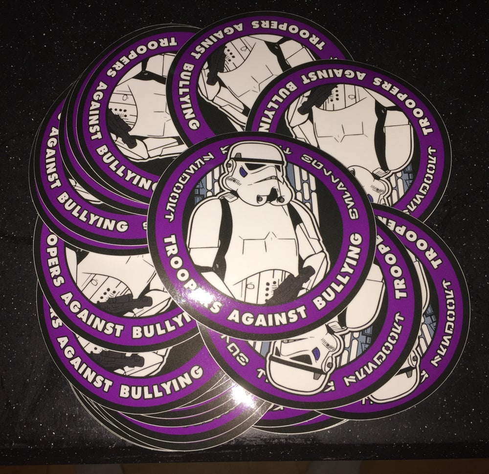 """Image of Troopers Against Bullies 4"""" Stickers"""