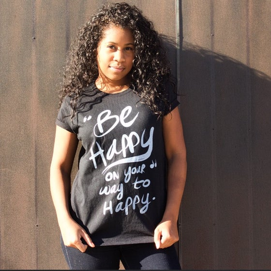 Image of 'Be Happy' - Short Sleeve Tee