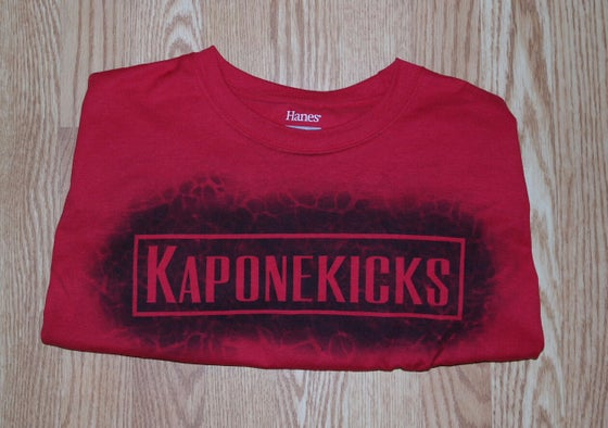 Image of Red Kaponekicks t-shirt with front logo only