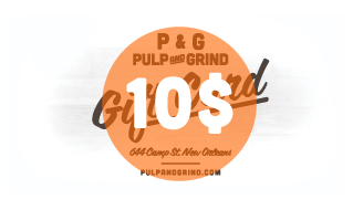 Image of Pulp & Grind Gift Card / 10.00