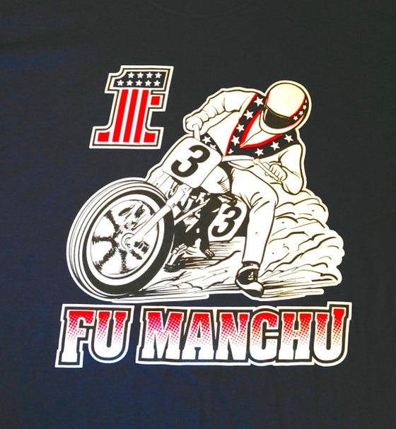 "Image of FU MANCHU ""Dark Blue Biker"" T-Shirt"