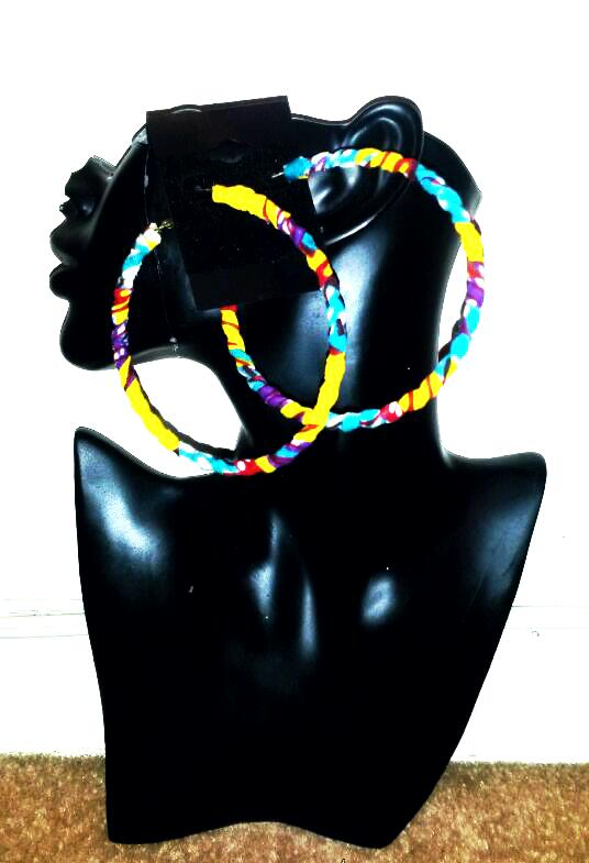 Image of Vekras Multicoloured Hoop Earrings