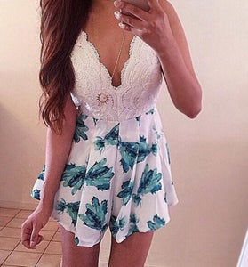 Image of HOT FLOWER PRINT JUMPSUIT ROMPER