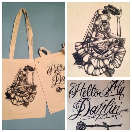 """Image of Spaceballs """"Hello My Darlin"""" Double-sided Canvas Tote"""