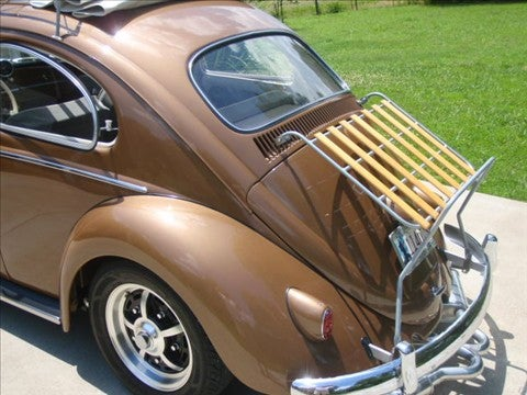 Image of VINTAGE SILVER POWDER COAT VW BUG DECK-LID