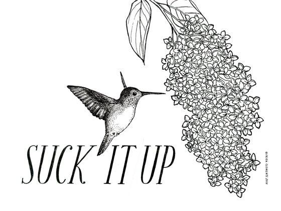 Image of Suck It Up / Mini Print