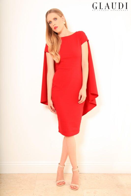 Image of GLAUDI BODYCON CAPE DRESS