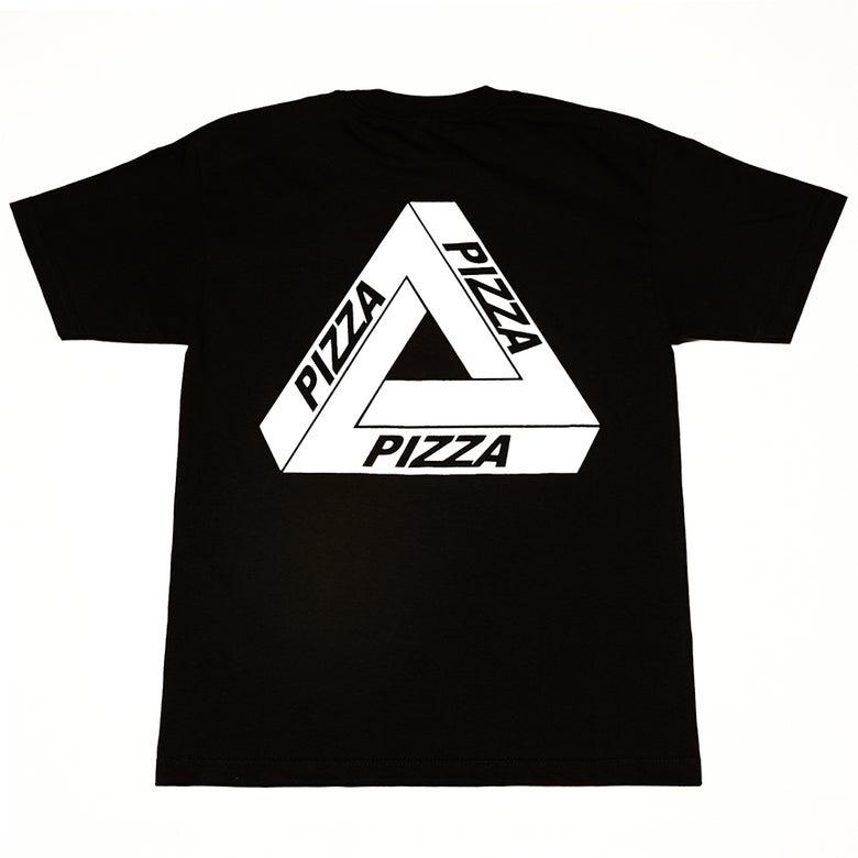 Image of Pizza Short Sleeve T-Shirt (Black w/ White)
