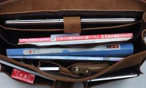 """Image of Men's Handmade Vintage Leather Briefcase / Messenger / 14"""" 15"""" Laptop 15"""" MacBook Bag (n47-3)"""